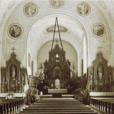 Klosterkirche historisch Innenansicht © Stadtarchiv Traunstein